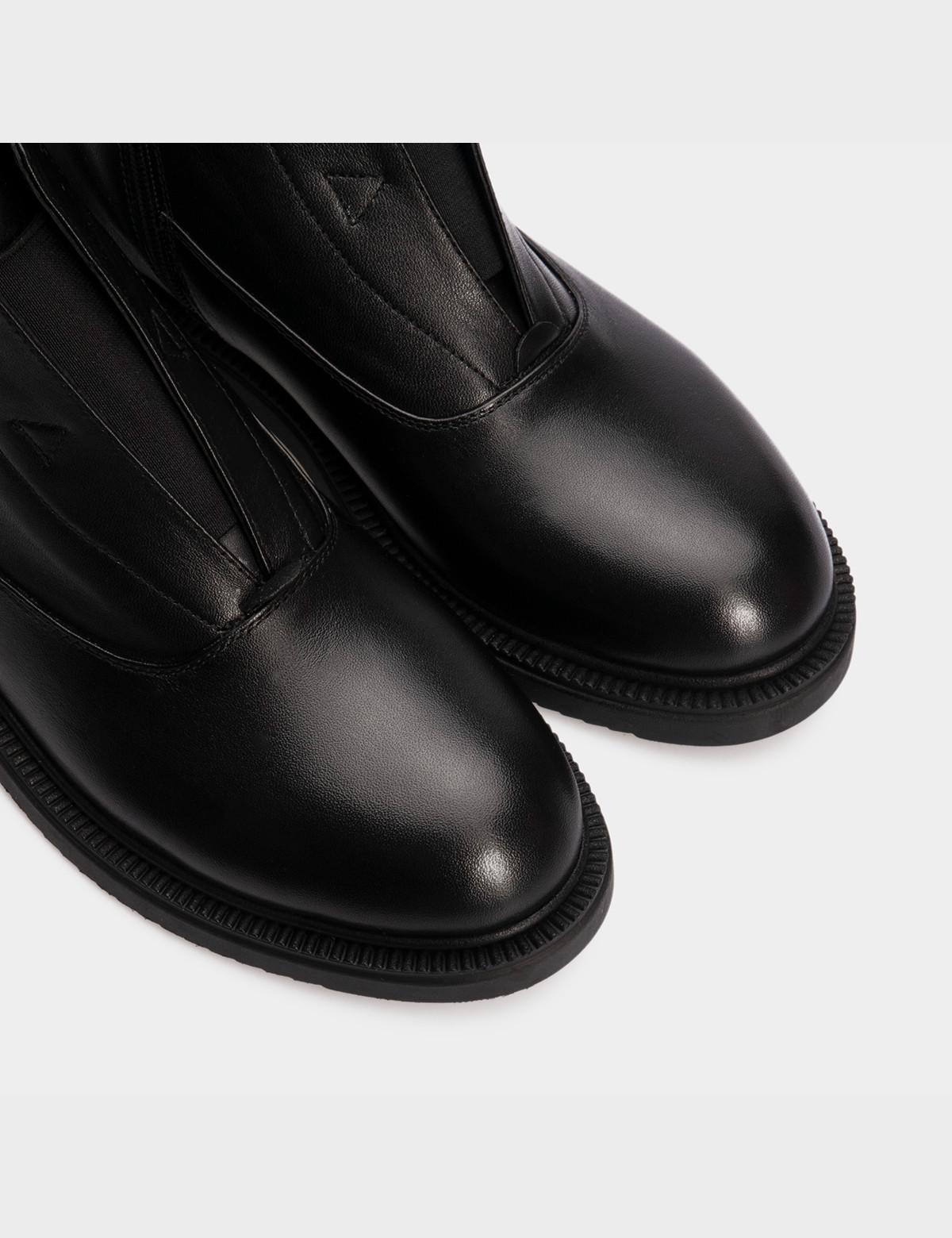 Ботинки черные, натуральная кожа. Байка 4