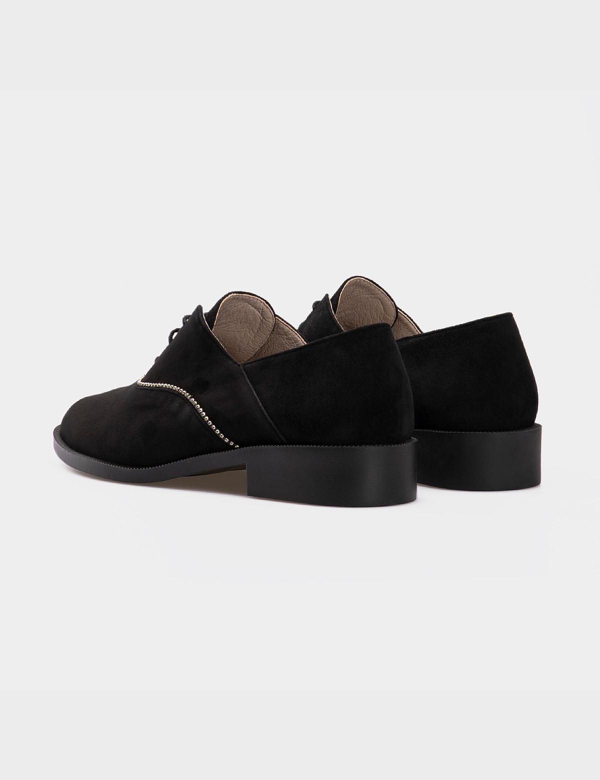 Туфлі чорні, натуральна замша2