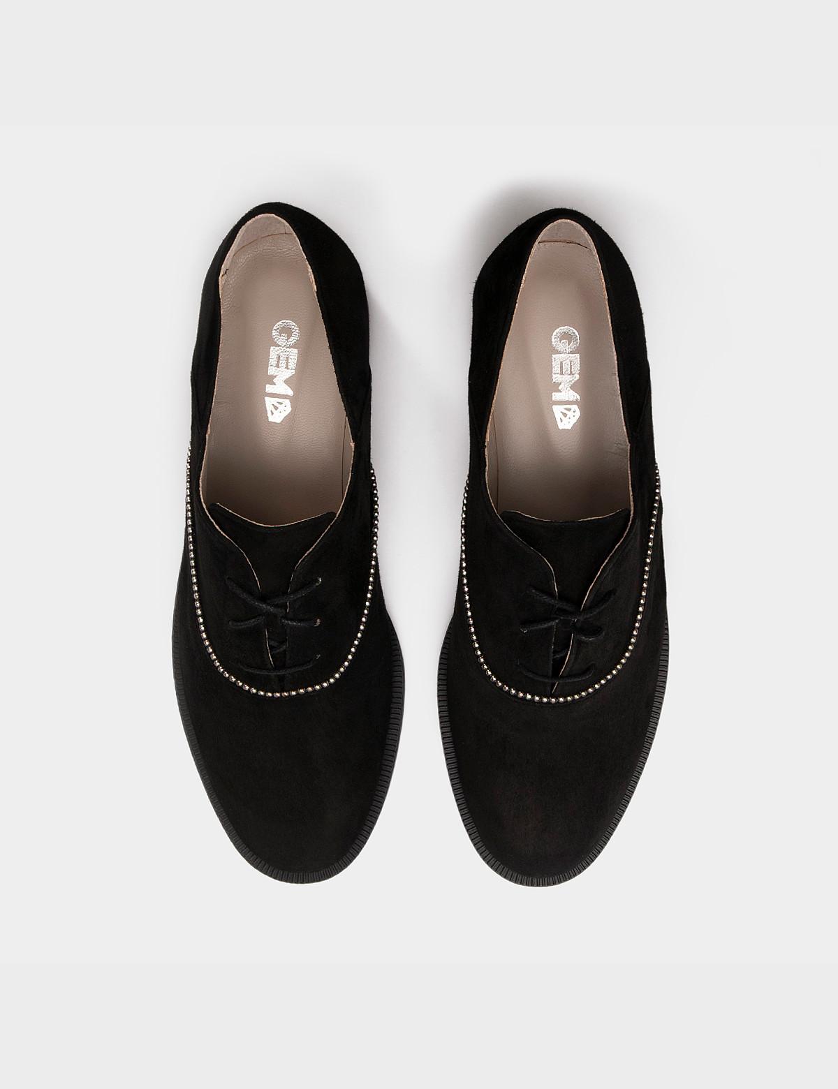 Туфлі чорні, натуральна замша3