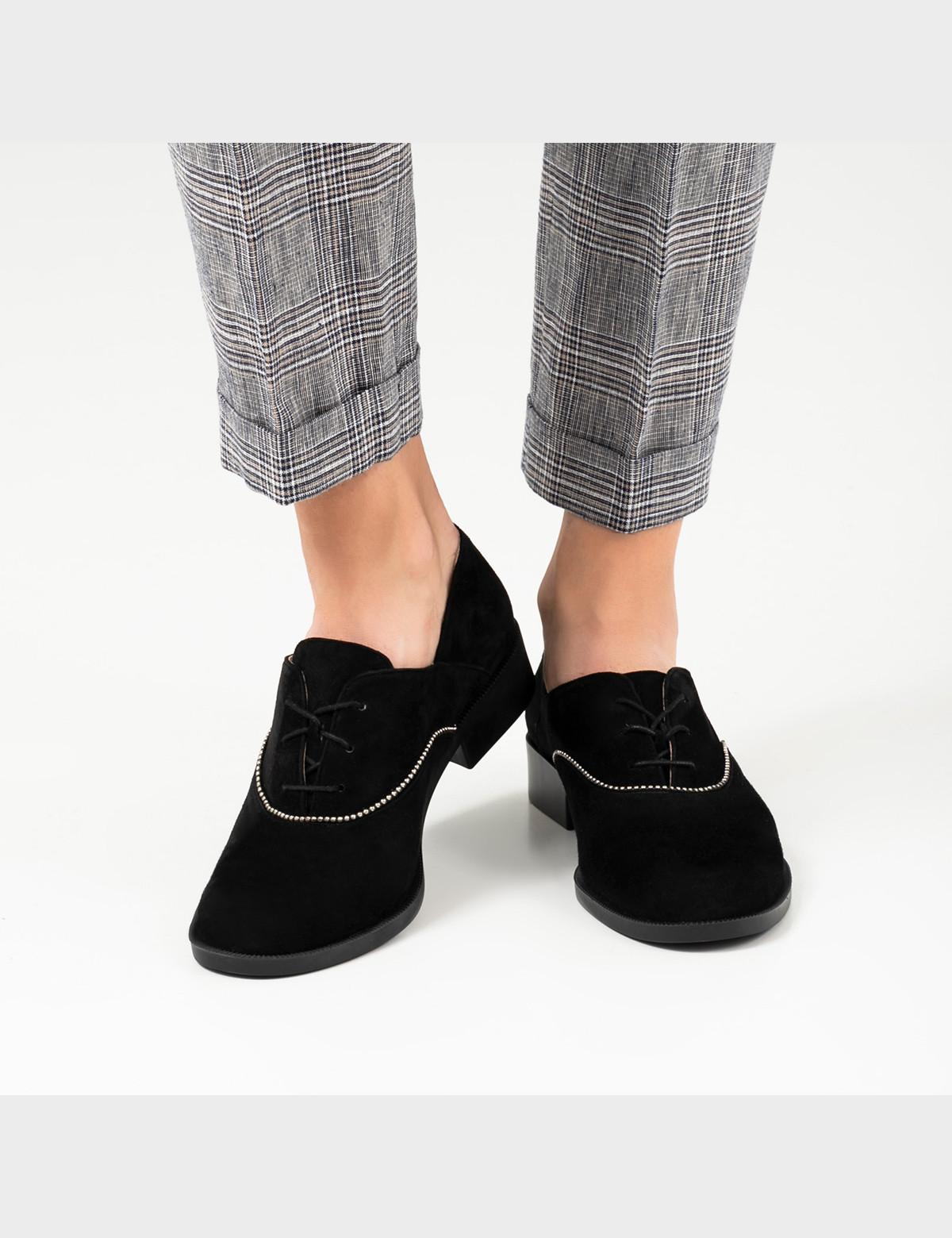 Туфлі чорні, натуральна замша5
