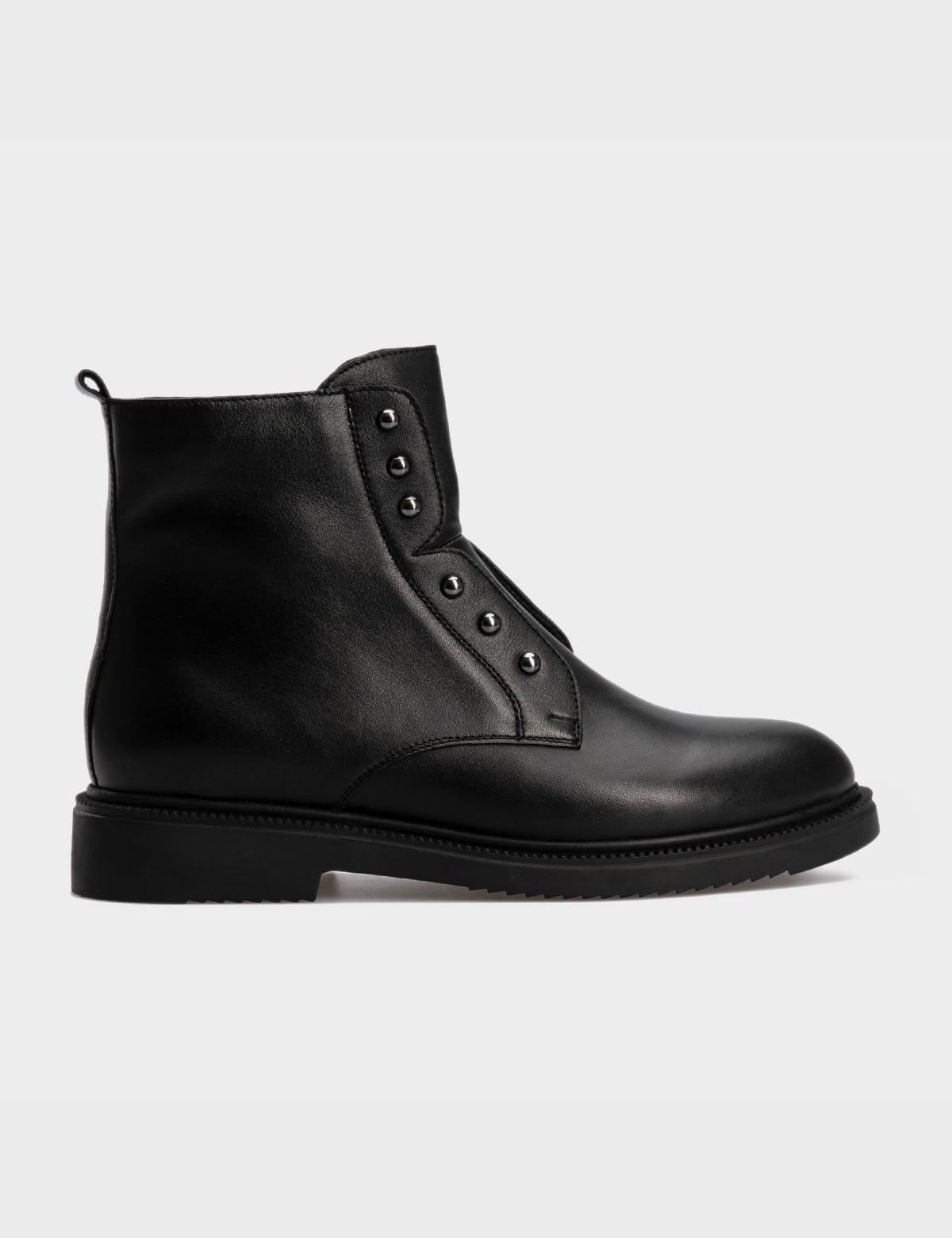 Ботинки черные, натуральная кожа. Шерсть