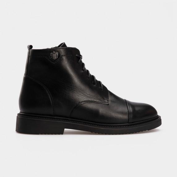 Ботинки 14500120 черная кожа. Байка