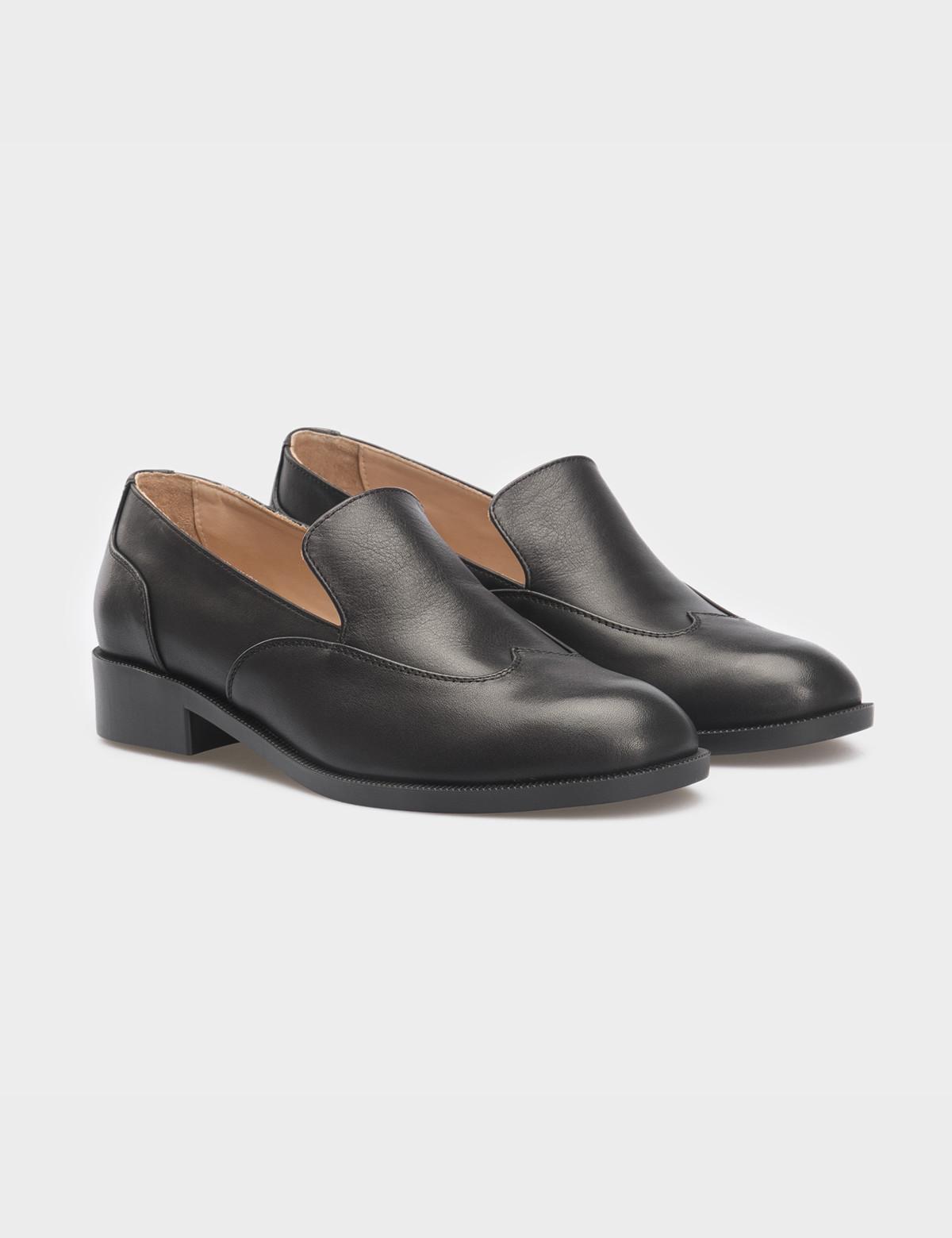 Туфли черные, кожа 1