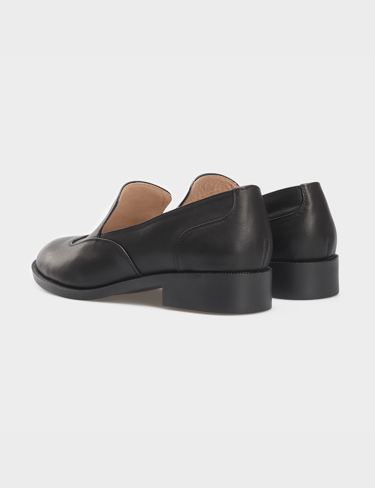 Туфли черные, кожа 2