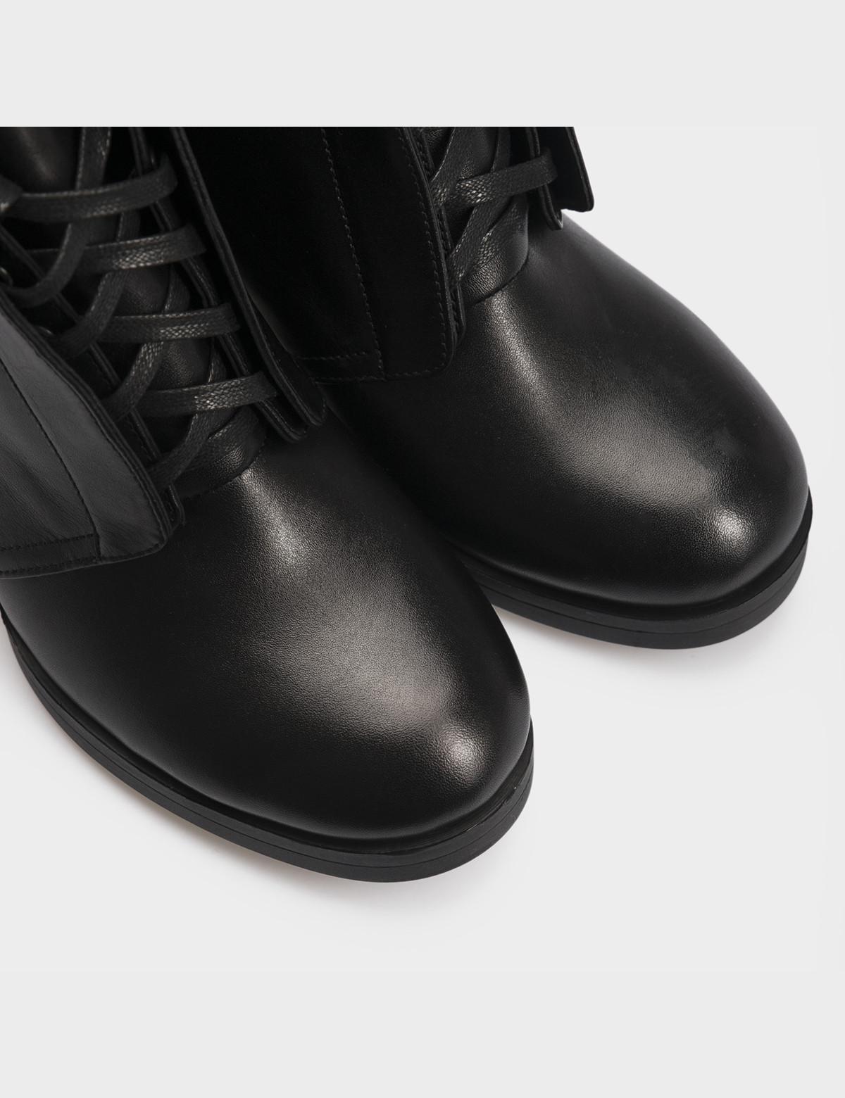 Ботильоны черные, натуральная кожа. Байка 4