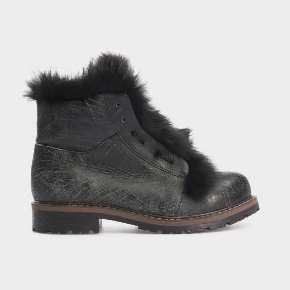 Ботинки черные, натуральная кожа. Мех