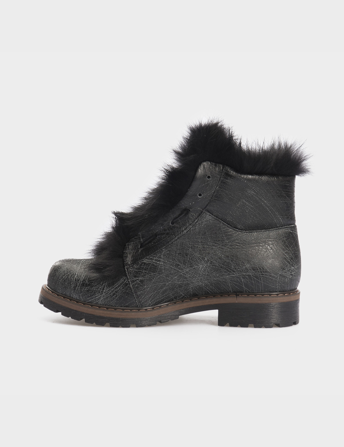 Ботинки черные, натуральная кожа. Мех2