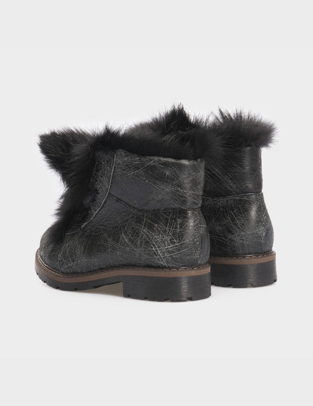 Ботинки черные, натуральная кожа. Мех3