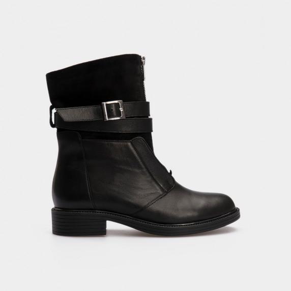 Ботинки черные натуральная кожа/замша. Шерсть