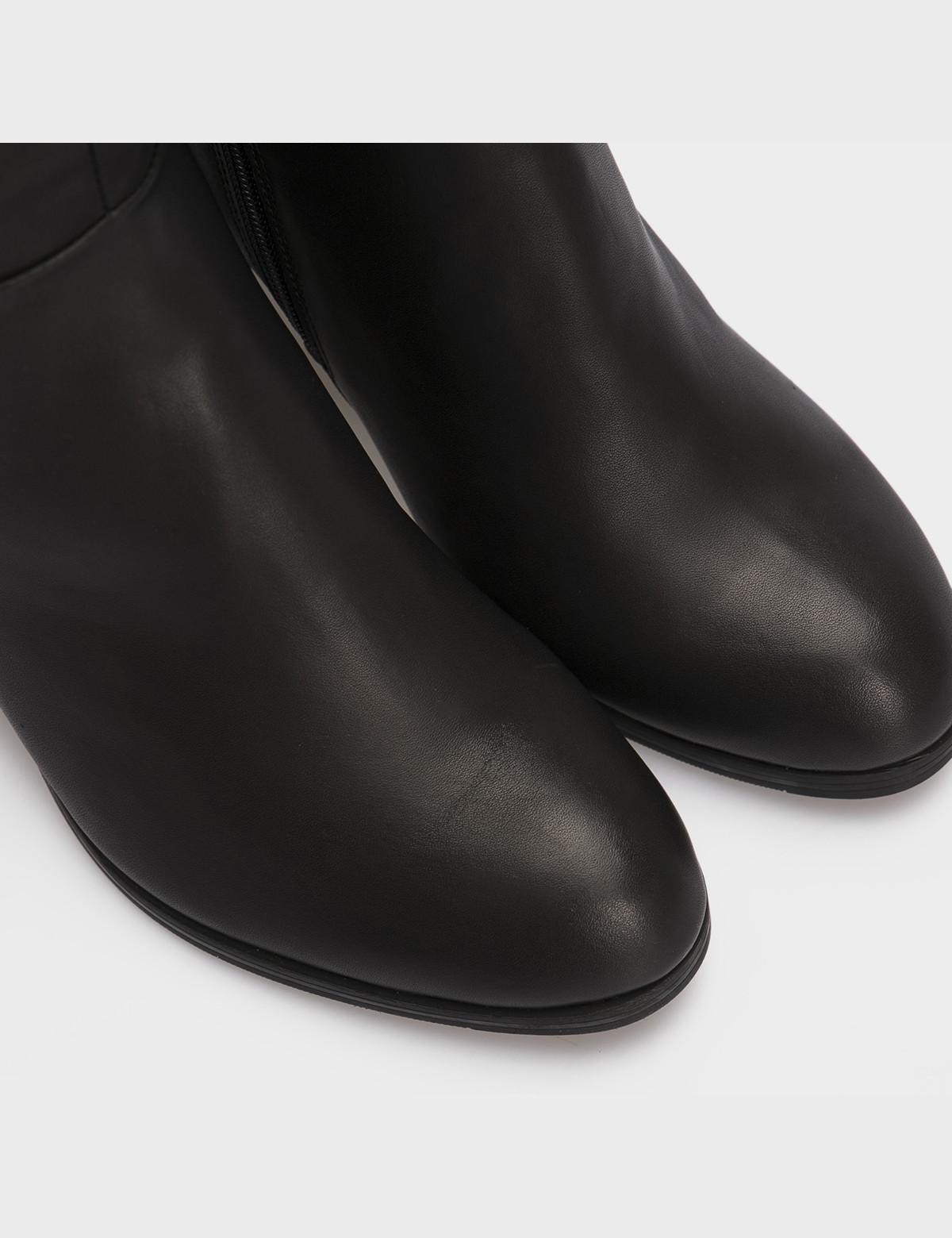 Сапоги черные, натуральная кожа. Байка4