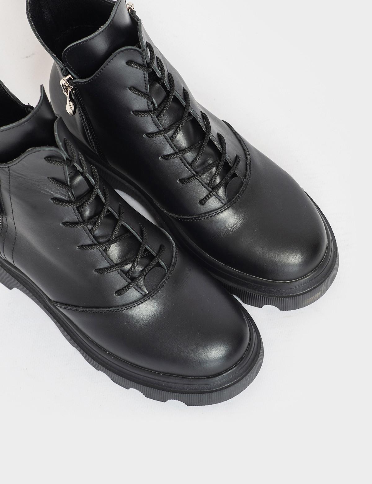 Ботинки черные. Натуральная кожа. Байка3