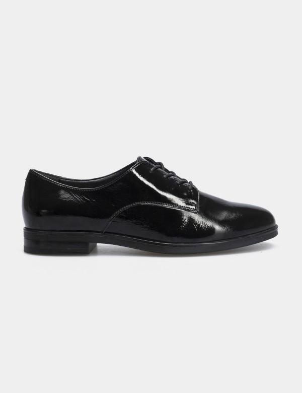 Туфлі чорні лаковані, натуральна шкіра