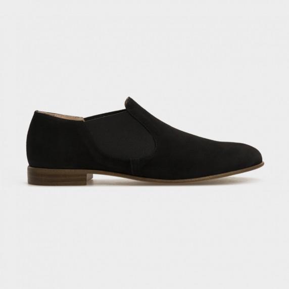 Туфлі чорні, натуральна замша