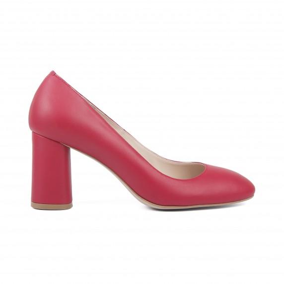 Туфлі червоні, натуральна шкіра