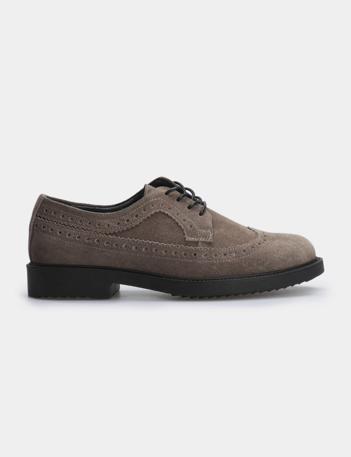 Туфлі темно-бежеві, натуральна замша