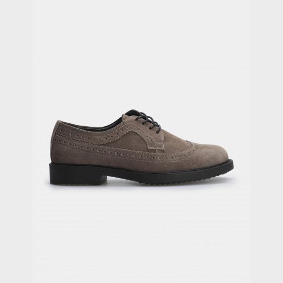 Туфли темно-бежевые, натуральная замша