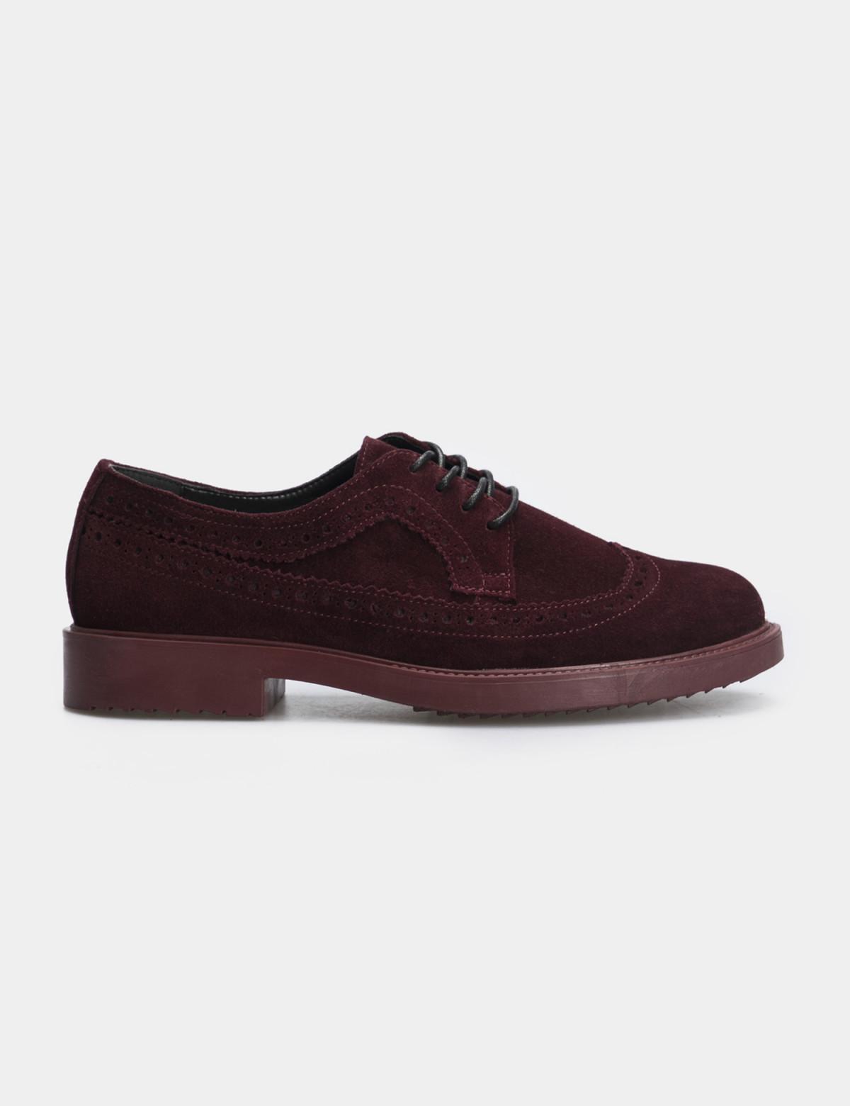 Туфли бордовые, натуральная замша